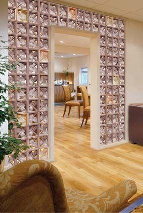 El cristal de pav s o ladrillo de vidrio en la decoraci n - Decoracion en cristal interiores ...
