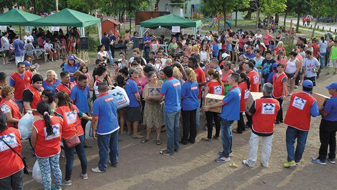 3,3 toneladas donadas en La Tablada