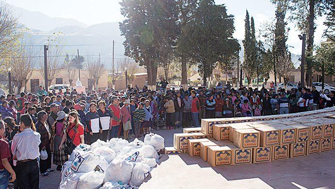 T-Ayudo visitó a Jujuy con más de 3 toneladas de alimentos y más de 5 mil prendas de ropa
