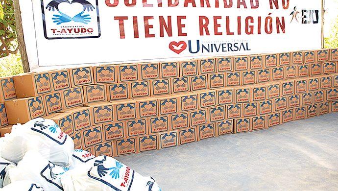 El T-Ayudo visitó dos barrios de San Juan y entregó casi 5 toneladas de alimentos