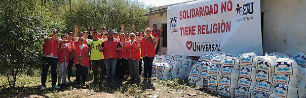 El barrio Ginés Benítez recibió casi 3 toneladas de ayuda solidaria