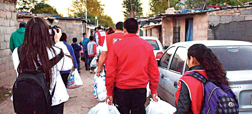 El T-Ayudo fue a Córdoba con casi 2 toneladas de alimentos