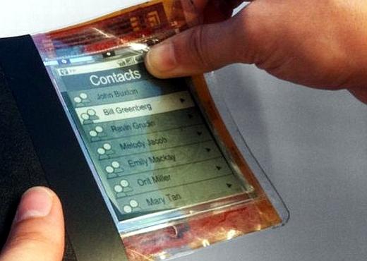 En cinco años los celulares serán flexibles