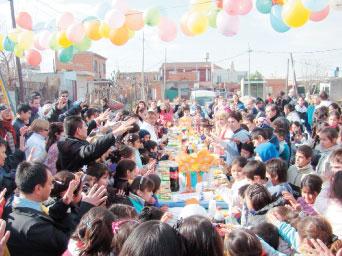 Fiesta del niño en la Boca y en San Martín