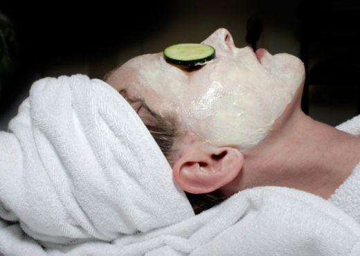 Mascara de pepino para el rostro