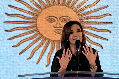 Cristina se sumó al festejo en Plaza de Mayo