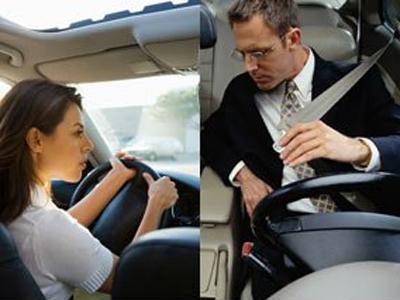 Los hombres se arriesgan y las mujeres se distraen al volante