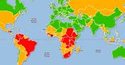 La ONU elaboró mapa con los paises más violentos del mundo