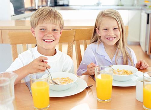 Desayuno para niños