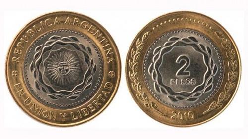 Empiezan a circular las monedas de dos pesos