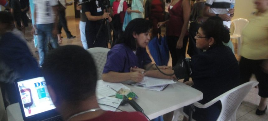Donación de sangre en Nicaragua