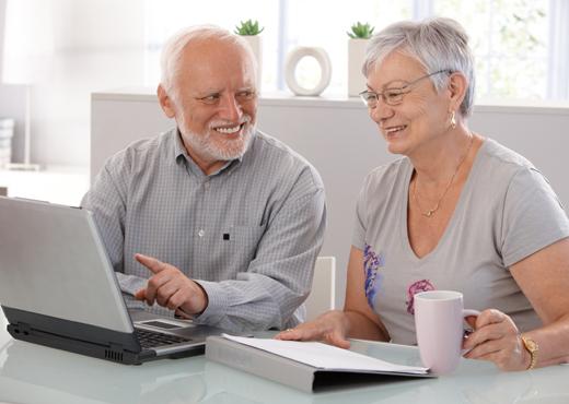 La tercera edad en internet