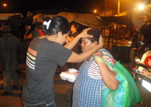 Ángeles de la noche en acción, en Nicaragua