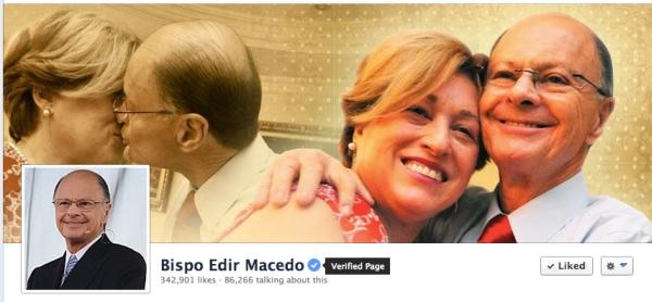 La página del obispo Macedo en Facebook obtiene el sello de autenticidad