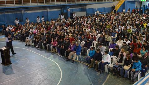 Concentración de fe y milagros en Bariloche