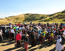 Reunión en la tribu de los Zulúes