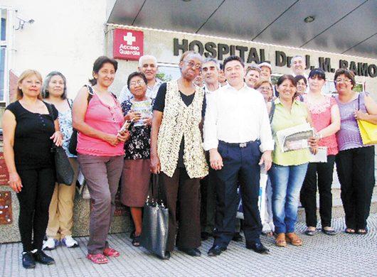 El Grupo Caleb visitó el Hospital Ramos Mejía