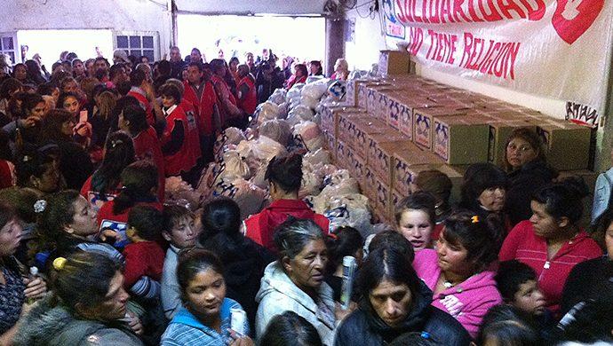 El barrio Trujui recibió ayuda