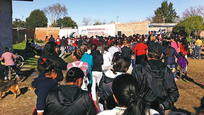 Acción solidaria en Berazategui