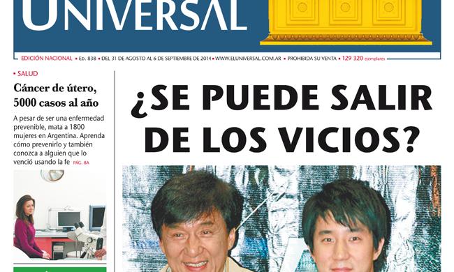 Tapa de El Universal Edición 838