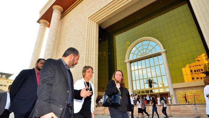 Funcionarios del Ministerio de Turismo de Israel visitan el Templo de Salomón
