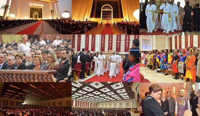 Así fue la inauguración oficial del Templo de Salomón