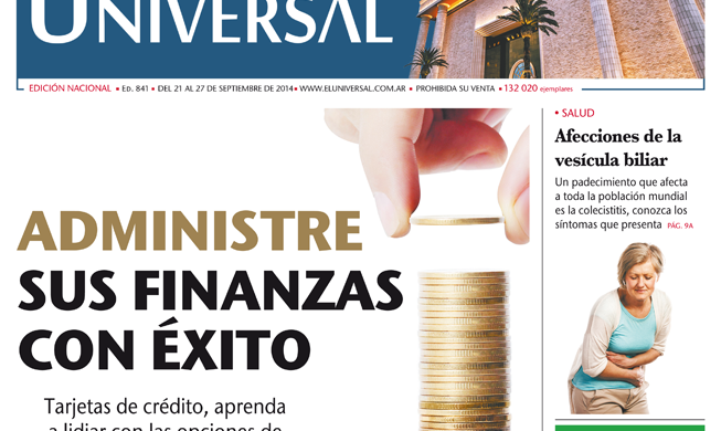 Tapa de El Universal Edición 841