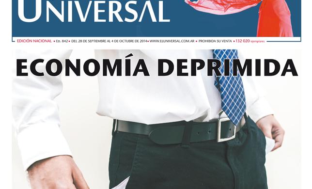 Tapa de El Universal Edición 842 – Domingo 28 de Setiembre