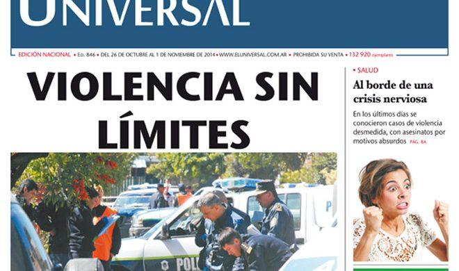 Tapa de El Universal Edición 846