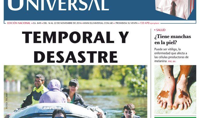 Tapa de El Universal Edición 849