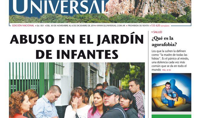 Tapa de El Universal Edición 851