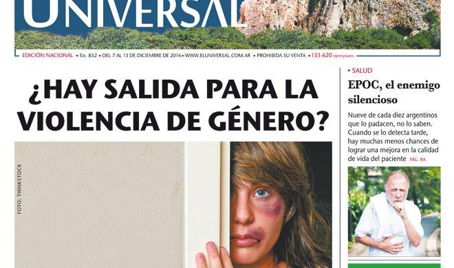 Tapa de El Universal Edición 852