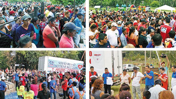 T-Ayudo: casi 50 toneladas de alimentos y más de 85 mil prendas de ropa entregadas en solo tres meses
