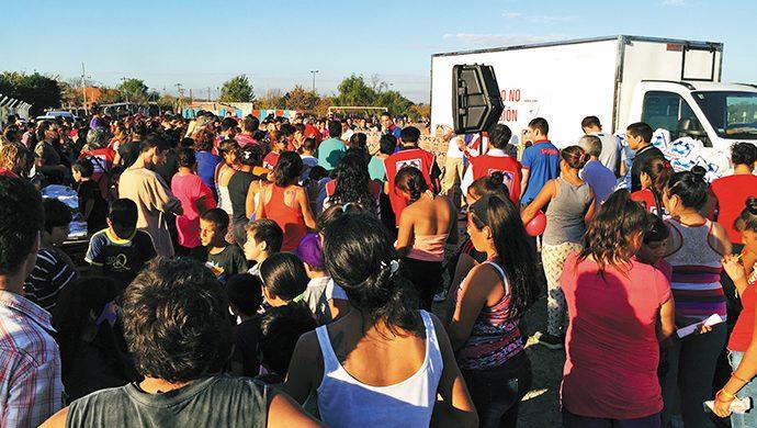 Solidaridad en Rafael Calzada
