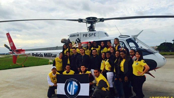 La Unifuerza visita la Agrupación Aérea de la Policía Militar