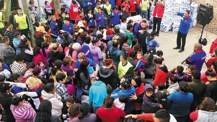 Solidaridad en Villa Caraza