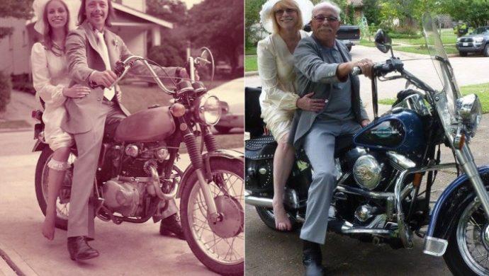 40 años después, una pareja recrea fotos de su matrimonio