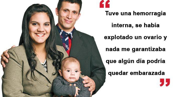 """Dios existe, cumplió mi sueño de ser mamá"""