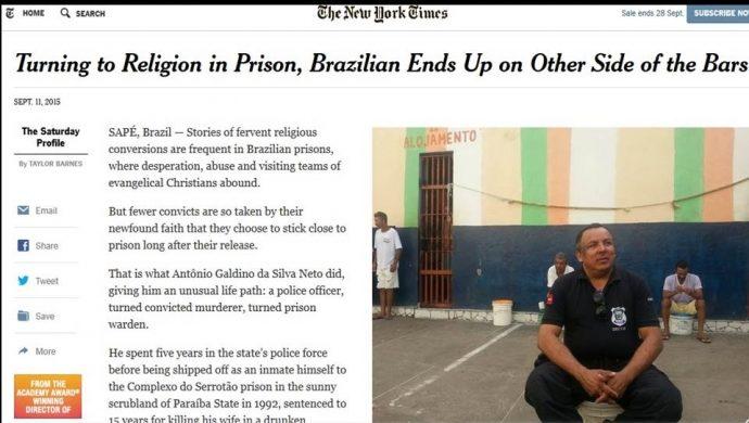 El ex presidiario que se volvió director de una penitenciaria se destacó en The New York Times