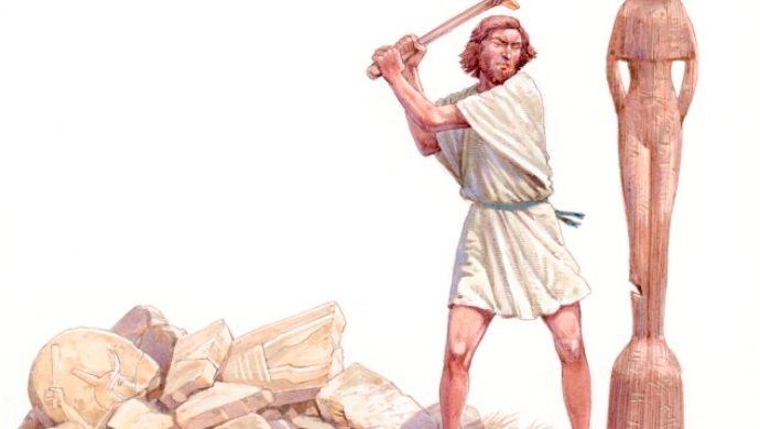 Derribando el altar de Baal