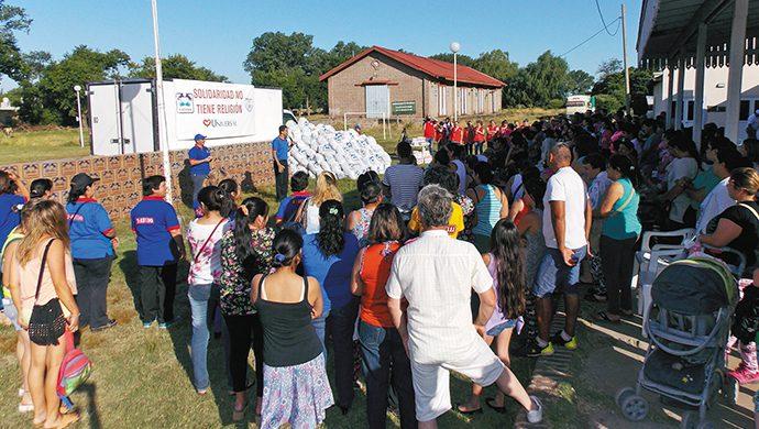 T-Ayudo en Saladillo: casi 3 toneladas de alimentos y 3000 prendas de ropa donadas