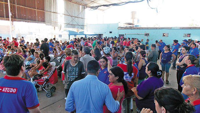1,7 toneladas de alimentos fueron donados en Pablo Nogués