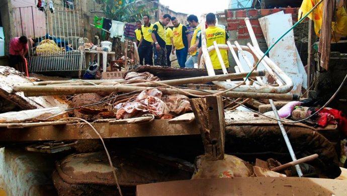 La Unifuerza ayuda a las víctimas de las inundaciones de Franco da Rocha, en Gran San Pablo