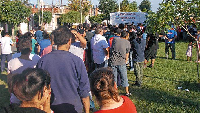 Sarandí recibió 2,3 toneladas de alimentos y 5000 prendas de ropa