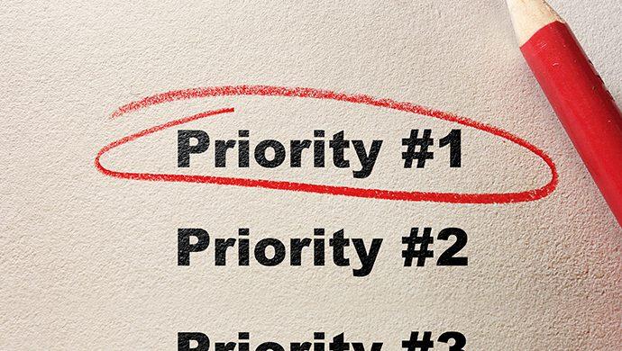 ¿Cuál es su prioridad hoy?