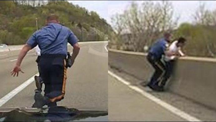 En los Estados Unidos, un policía salva a un hombre que estaba listo para matarse