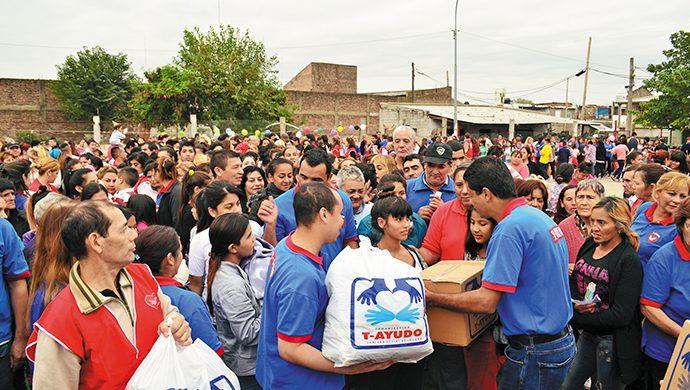 La Villa 18 recibió 4,5 toneladas de alimentos