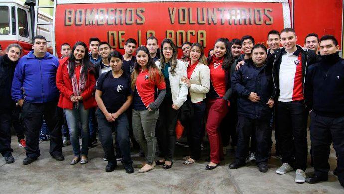 Homenaje a los Bomberos voluntarios de La Boca