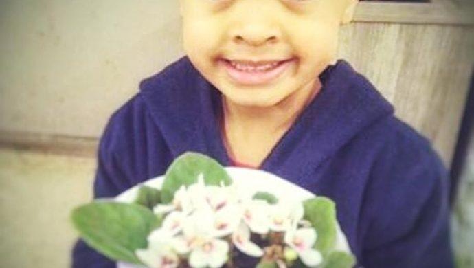 Foto de niño con flores se viraliza en la web