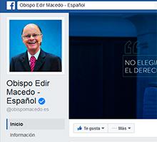 El obispo Macedo aclara dudas en Facebook